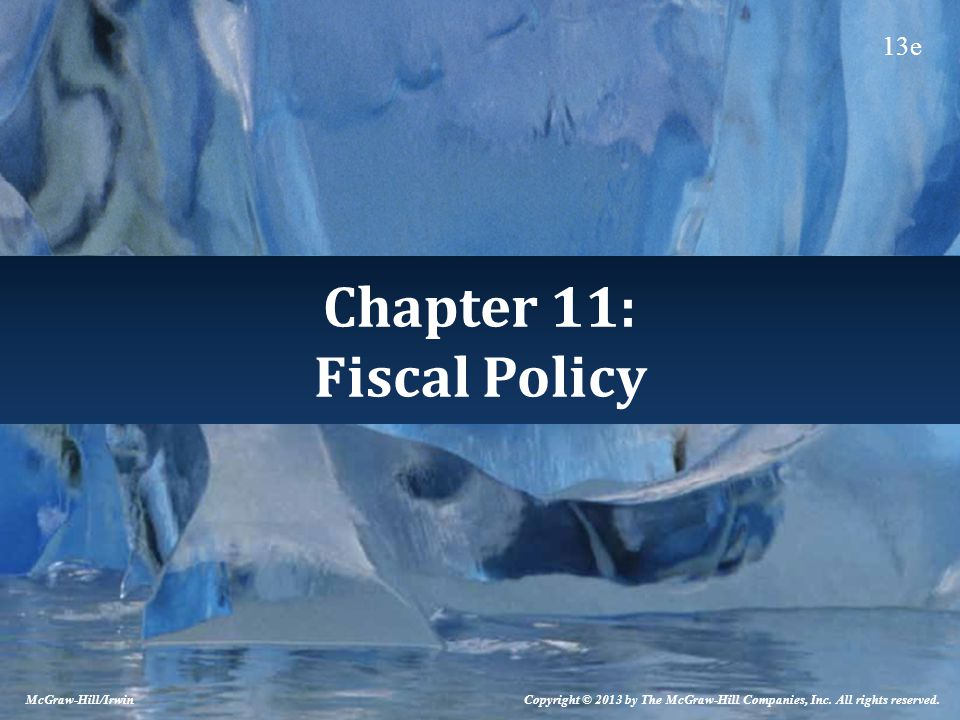 Chapter 11: Fiscal Policy McGraw-Hill/Irwin Copyright © 2013 by The McGraw-Hill Companies, Inc.