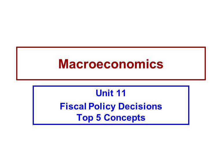 Macroeconomics Unit 11 Fiscal Policy Decisions Top 5 Concepts