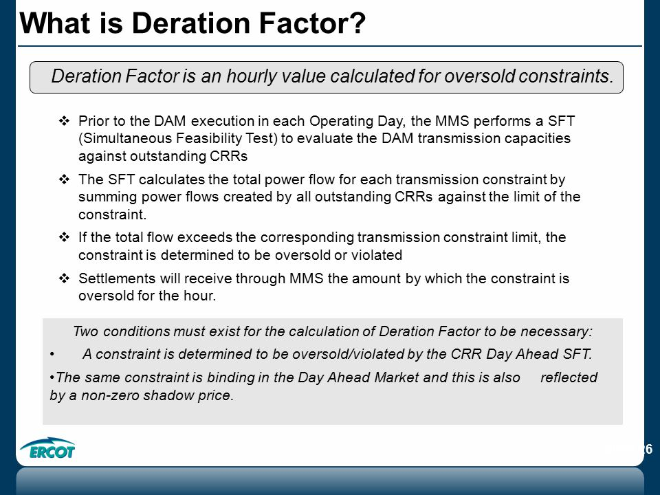 What is Deration Factor.