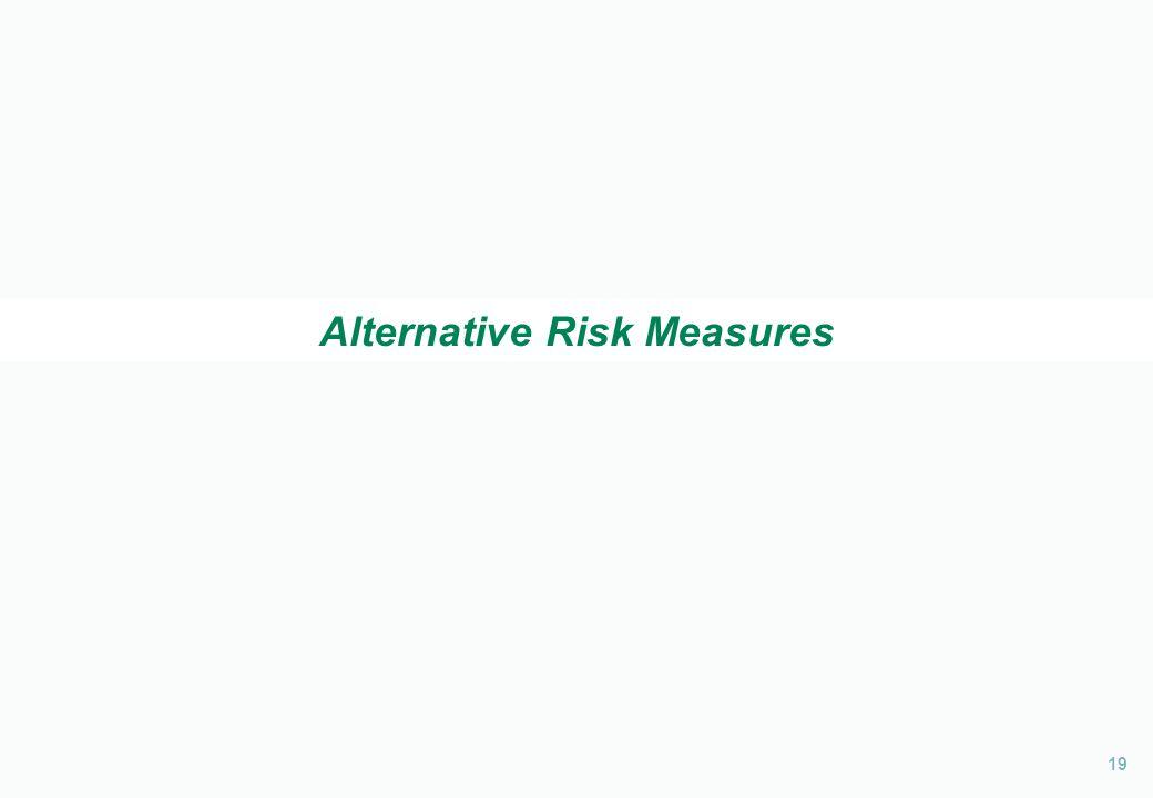 19 Alternative Risk Measures
