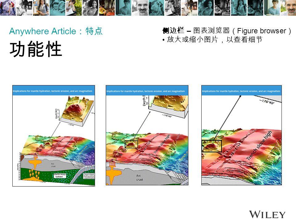 侧边栏 – 图表浏览器( Figure browser ) 放大或缩小图片,以查看细节 Anywhere Article :特点 功能性