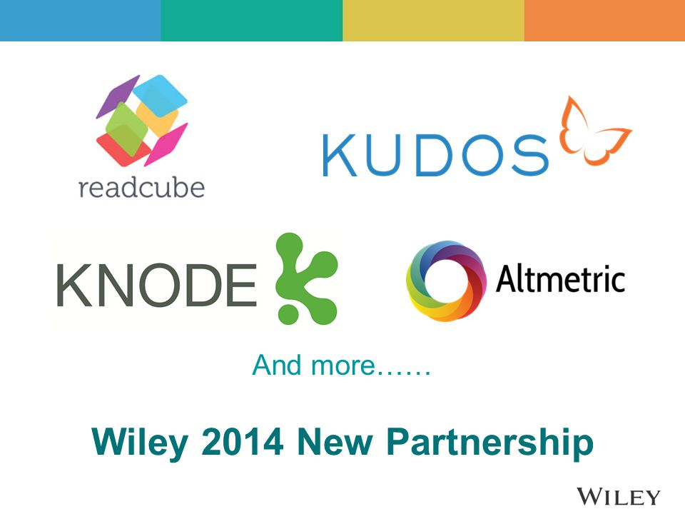 Wiley 2014 New Partnership And more……