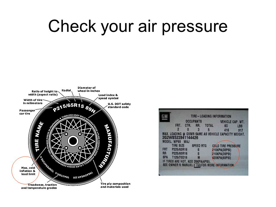 Check your air pressure