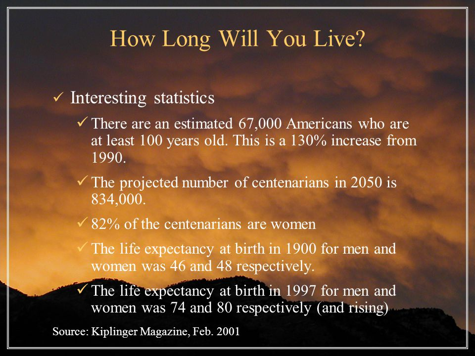 How Long Will You Live.