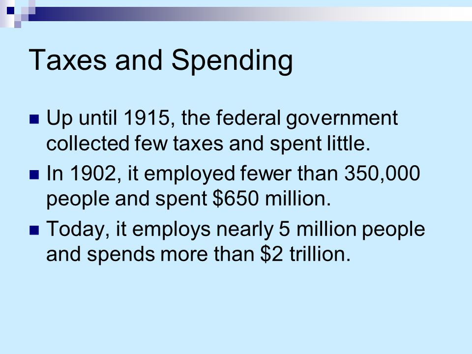 Government Revenue Government expansion started with the 16th Amendment to the U.S.