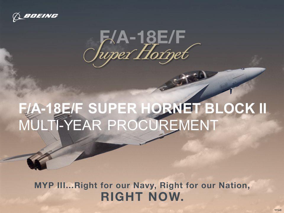 155405-005 F/A-18E/F SUPER HORNET BLOCK II MULTI-YEAR PROCUREMENT 161245