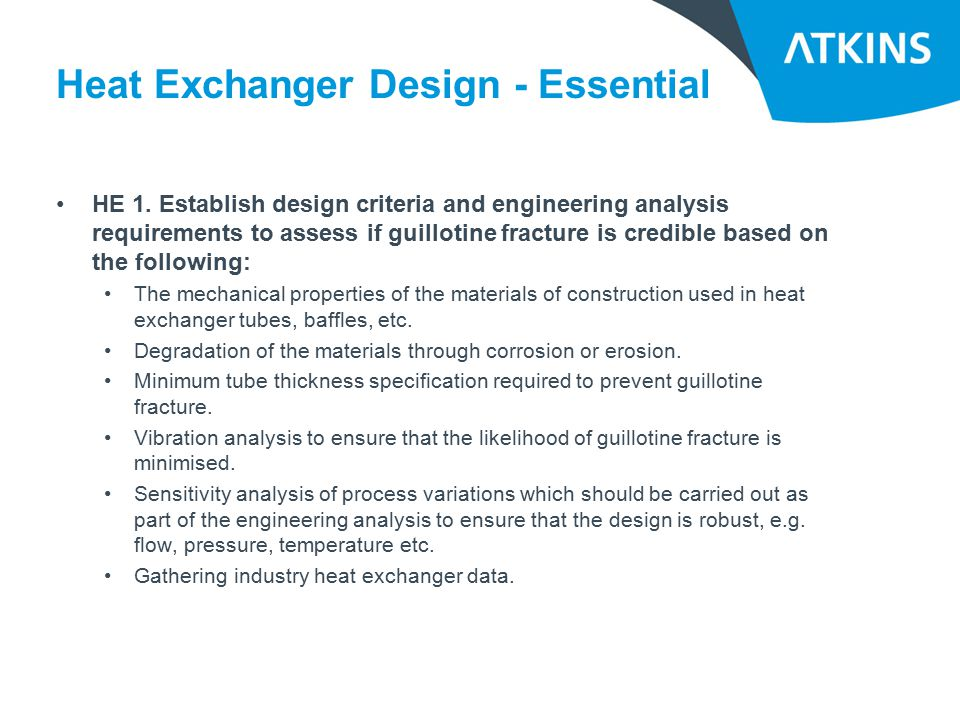 Heat Exchanger Design - Essential HE 1.