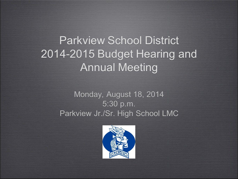 Parkview School District Fund Balance History 22