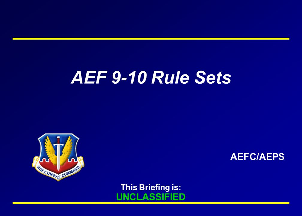 AF Component Commands Publish intratheater PAX reception/ onward movement plan as applicable 15 Jun 04 Rotation Date (Movement Window Starts NET 1 Jun 04) 29 Jan 04 AEFC Completes DCAPES Sourcing Nomination 21 Apr 04 AFCC Validation Deadline 18 Dec 03 CENTAF/USAFE/CONR/PACAF/SOUTHAF Approved ECS and Aviation Requirements in DCAPES W/CRM Codes AEFC Completes Rotation Tasking Flow/ Unit Notification 23 Feb 04 1 Apr 04 TACC/XOPC Publish Bookable AEF Contingency Missions MAJCOMS Complete Sourcing Verification 12 Feb 04 Component Command Level 4 Data to TACC/XOPC For Mission Purchase 17 Mar 04 30 Apr 04 Commanders Ensure ART Fully Updated//Prepare Forces to Deploy // ARC Buy Complete 13 Jan 04 Book/confirm reservations with AMC's Passenger Reservation Center 1 May 04 COMACC sends Cycle 4 AEF 9-10 certified forces message to CDRUSJFCOM 18 May 04 Execution Conference XX Apr 04 AEF 9-10 TIMELINE Requirements Available for ARC Buy 24 Dec 03