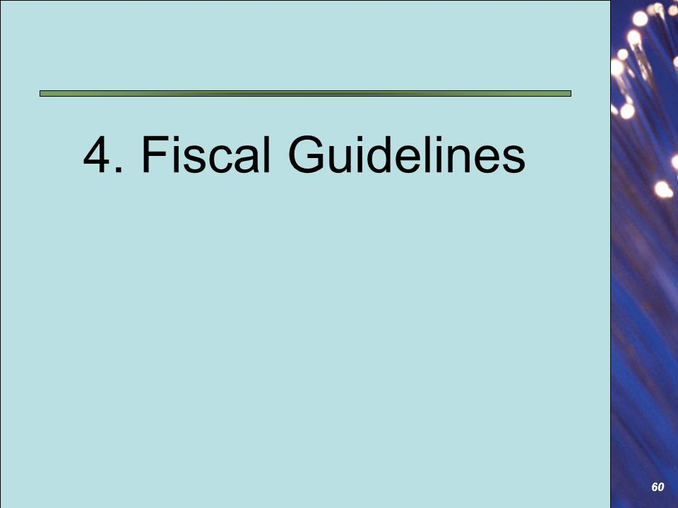 60 4. Fiscal Guidelines