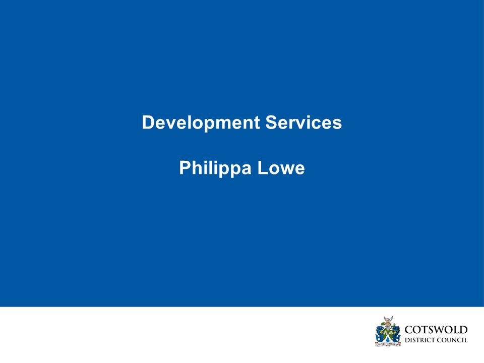 Development Services Philippa Lowe