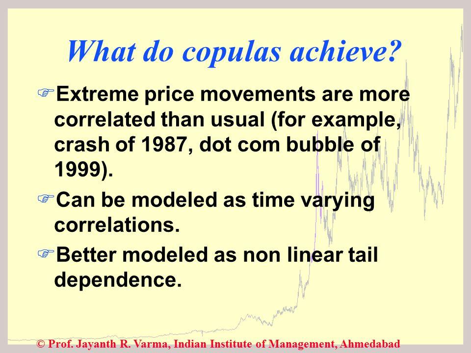 © Prof. Jayanth R. Varma, Indian Institute of Management, Ahmedabad What do copulas achieve.