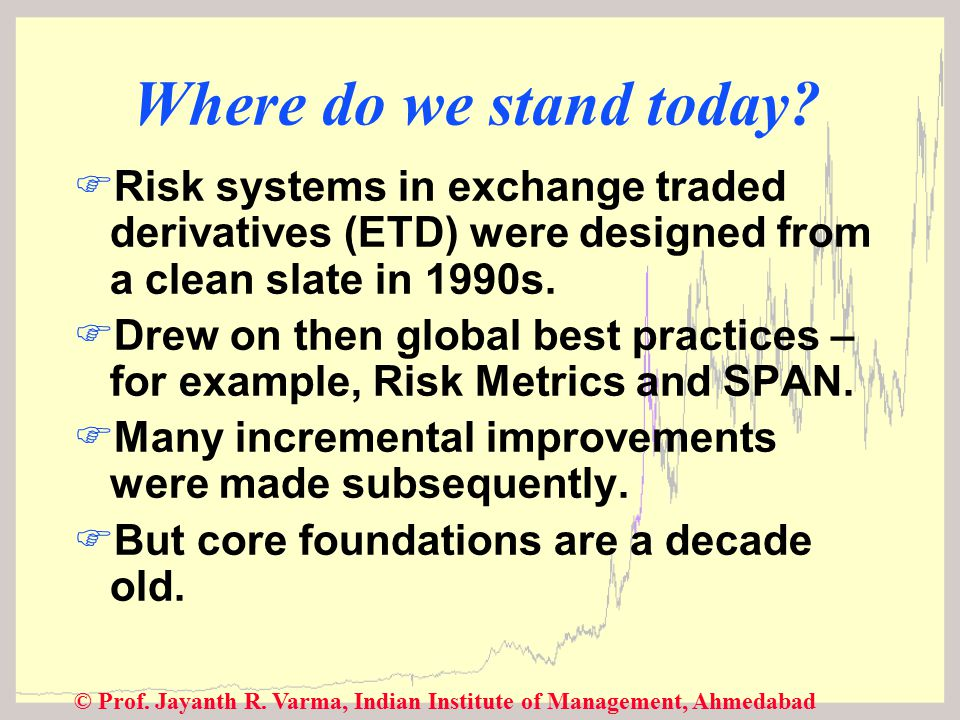© Prof. Jayanth R. Varma, Indian Institute of Management, Ahmedabad Where do we stand today.