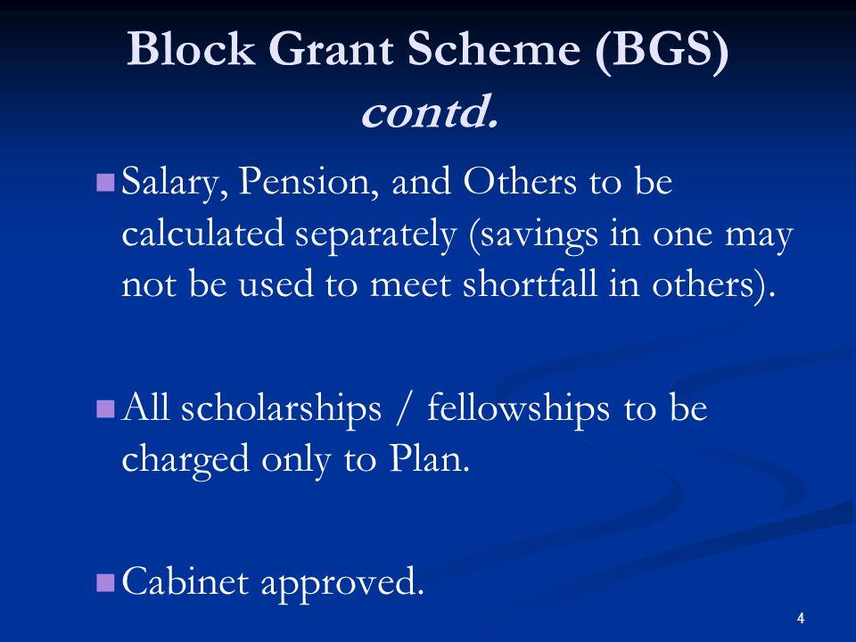 5 Block Grant Scheme (BGS) - Cost per student (Rs.