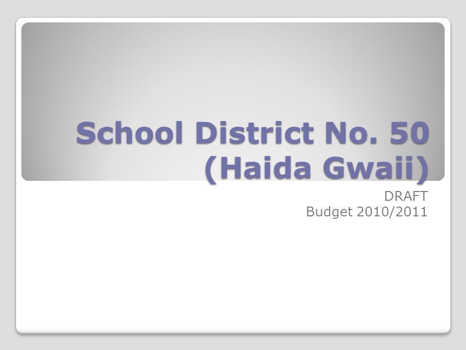 School District No. 50 (Haida Gwaii) DRAFT Budget 2010/2011