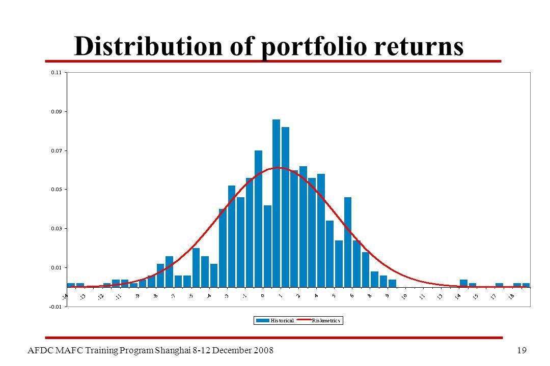 19 AFDC MAFC Training Program Shanghai 8-12 December 2008 Distribution of portfolio returns