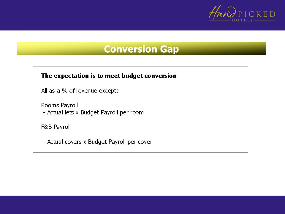 Conversion Gap