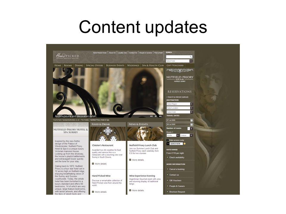 Content updates
