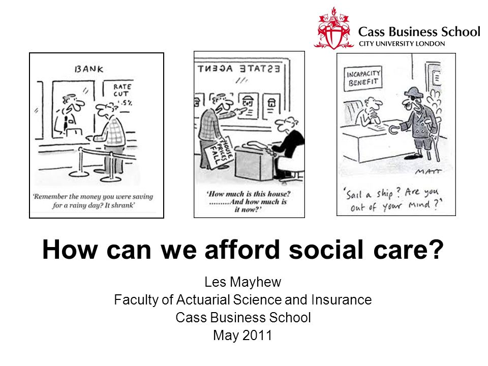 How can we afford social care.