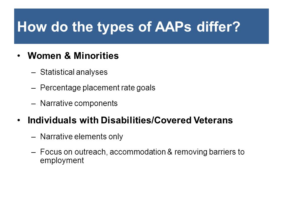 How do the types of AAPs differ.