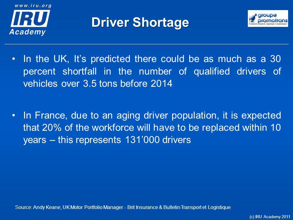Driver Shortage – a global concern U.S.