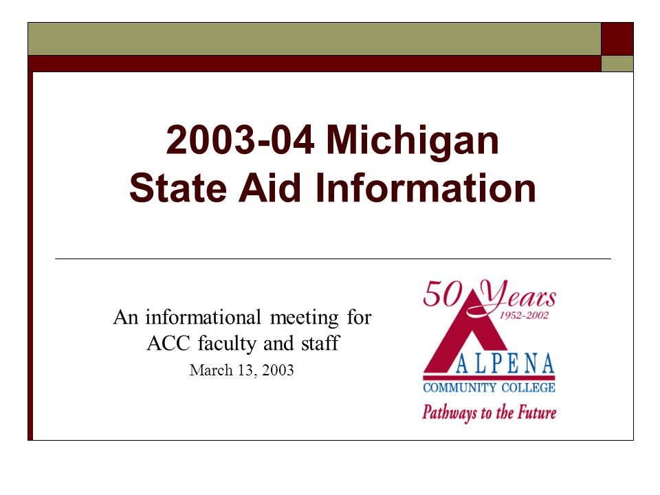 2003-04 MI State Aid Information Most States Face Revenue Challenges Average 4-year public institution tuition increase across the U.S.