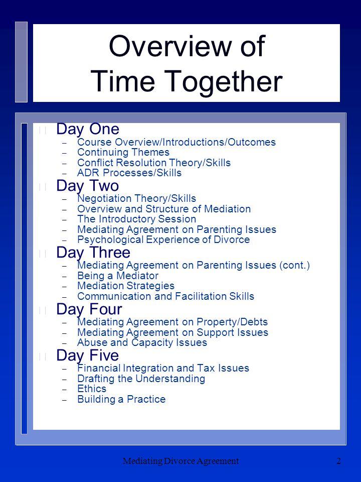 Mediating Divorce Agreement13 Negotiation Power n What is it.