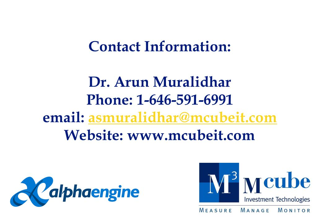 Contact Information: Dr.