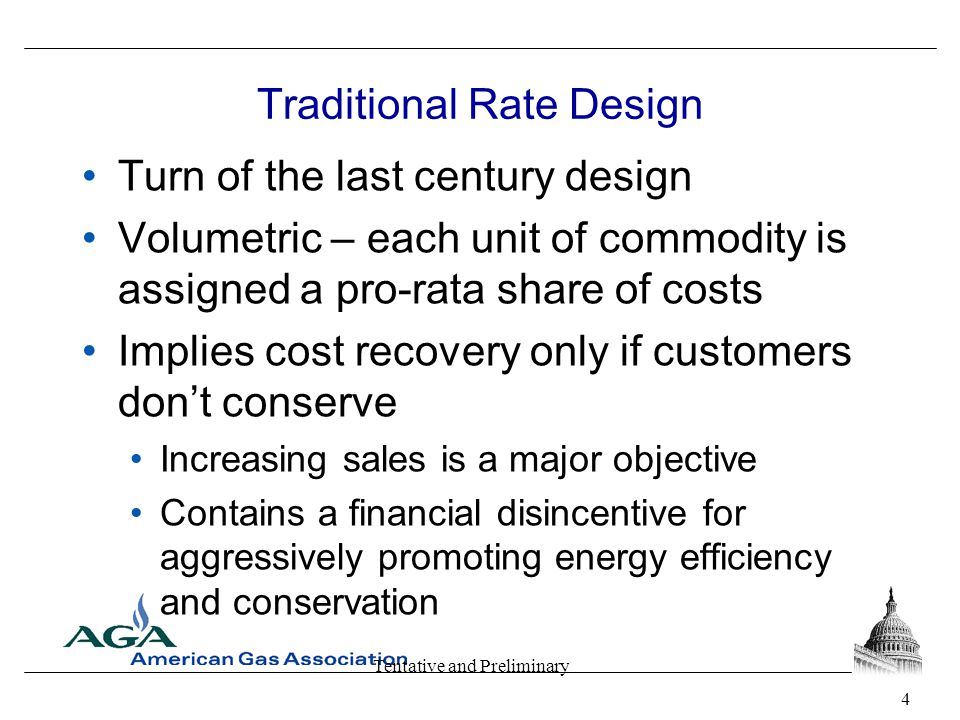 Tentative and Preliminary Why Innovative Rate Design.