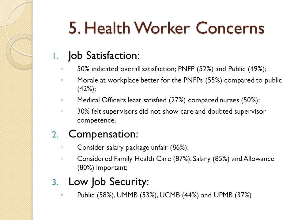 5. Health Worker Concerns 1.