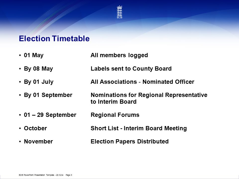 ECB Presentation Template - 28.1.04 Page 24 Consultation Regional / National Forums Investment People & Funding Research What do you all need / want.