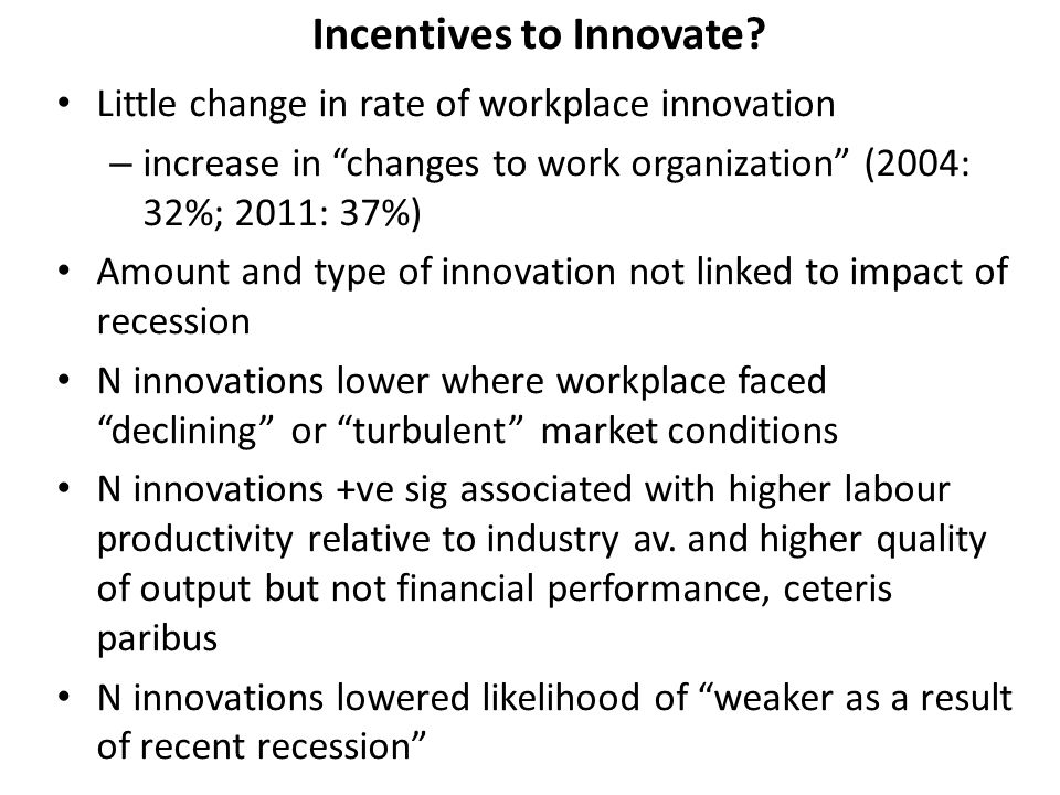 Incentives to Innovate.