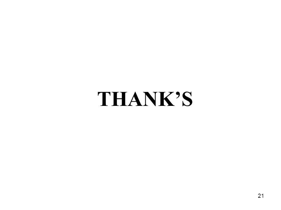 21 THANK'S