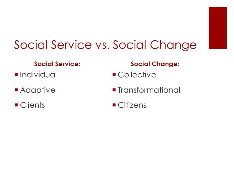 Social Service vs.