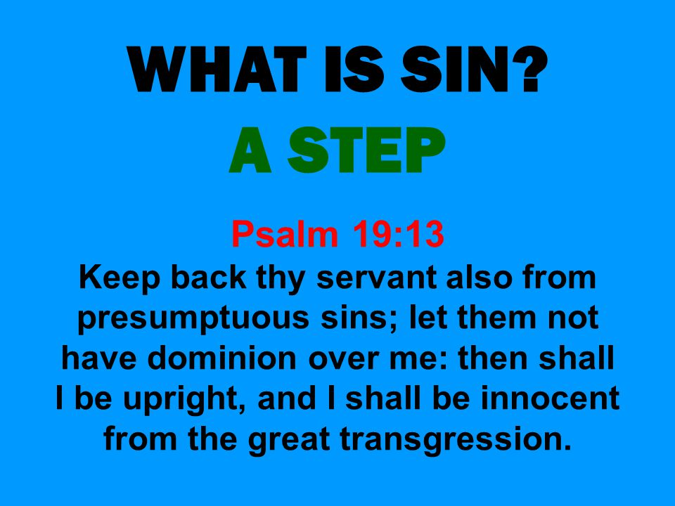 WHAT IS SIN.
