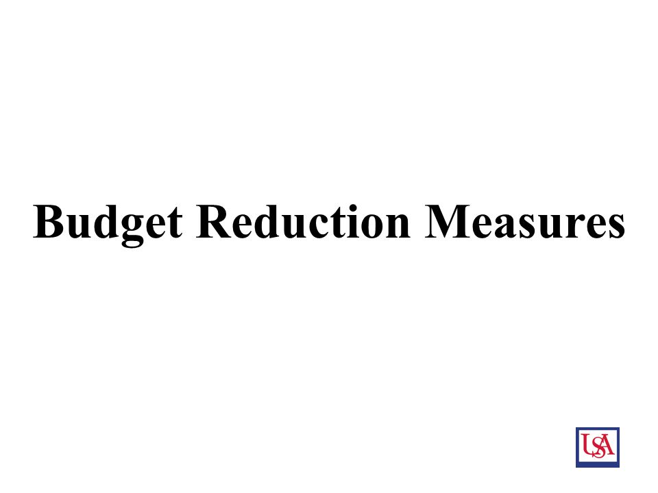 17 Budget Reduction Measures