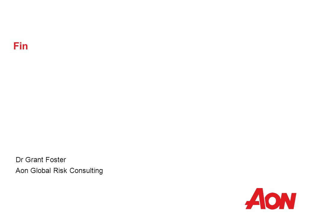 Fin Dr Grant Foster Aon Global Risk Consulting