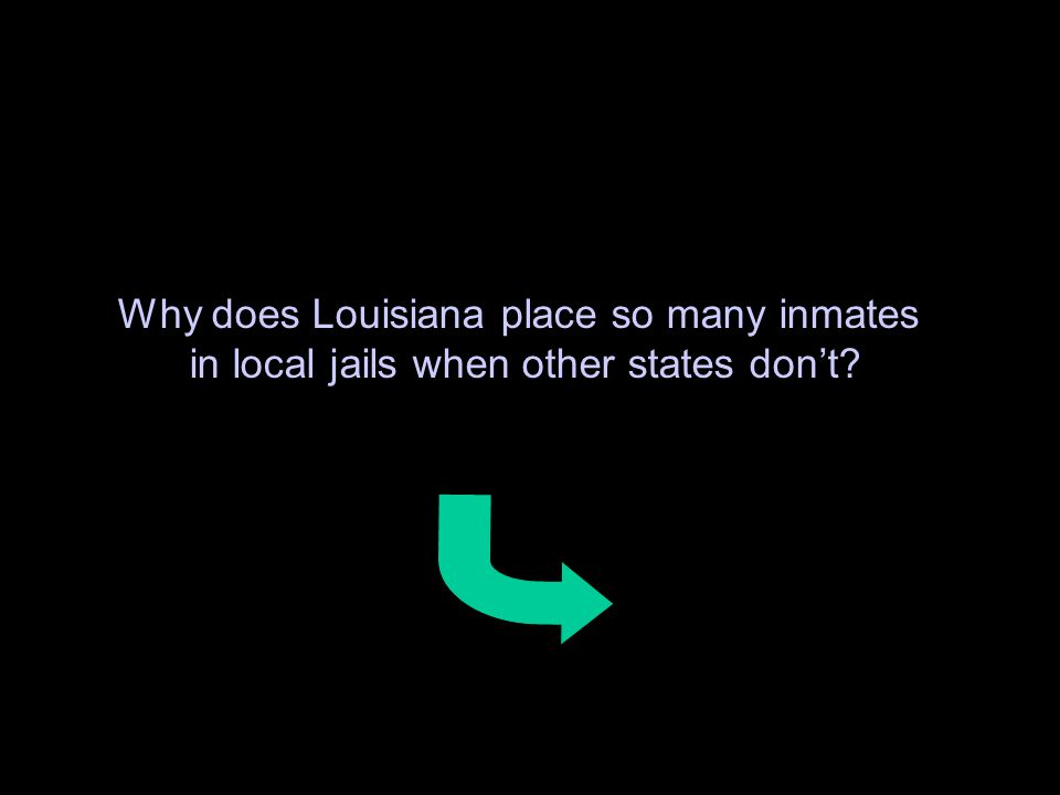 60 Why does Louisiana place so many inmates in local jails when other states don't?