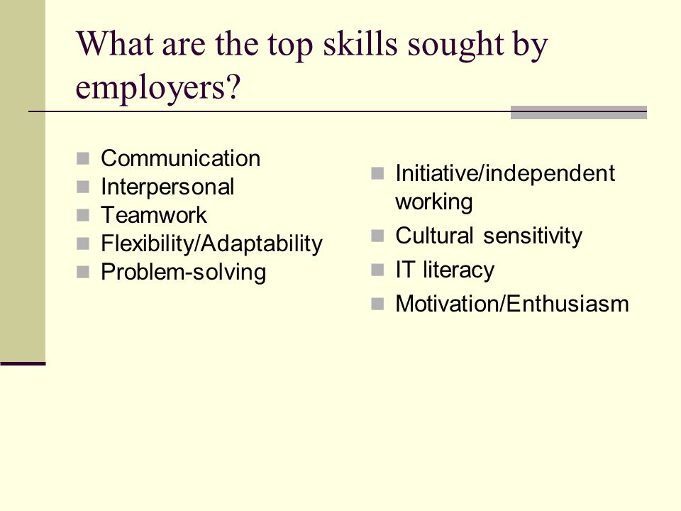 What are the top skills sought by employers.