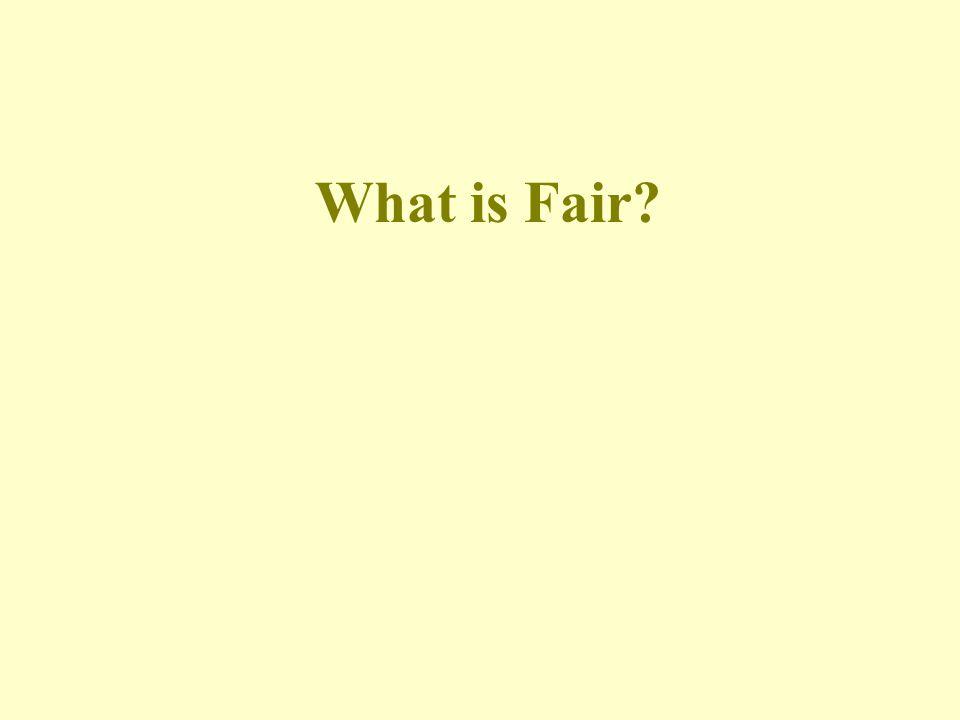 What is Fair?