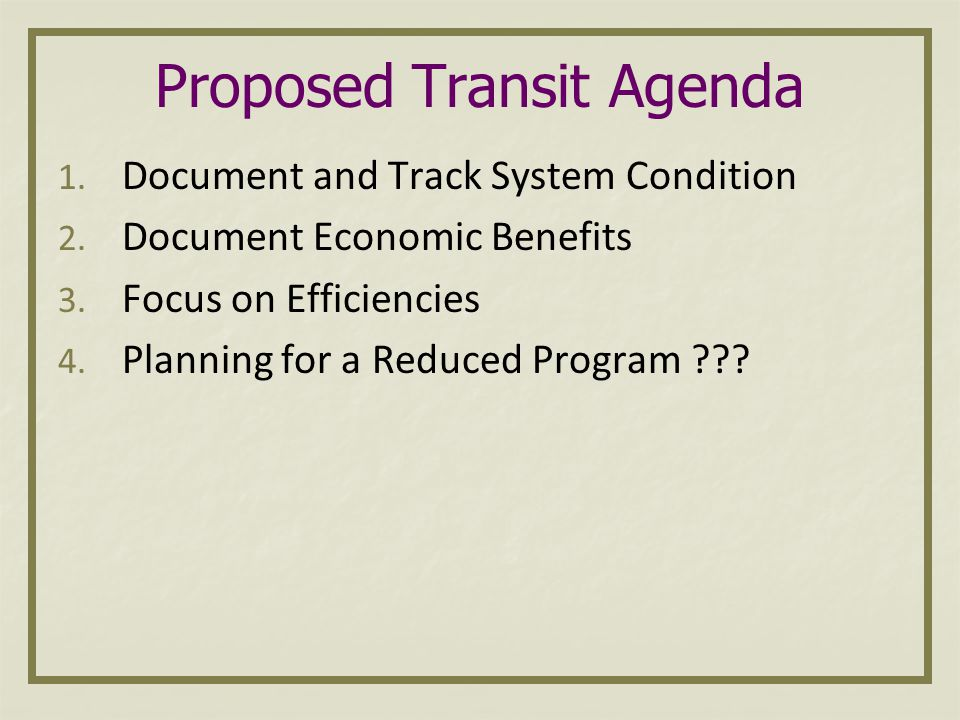 Revenue Issues MDOT's FY2009-2013 Five Year Transportation Program laid out a challenging revenue picture MDOT will begin development of the 2010-2014 Five Year Program in September First step in the process is to develop revenue estimates Revenue picture is NOT better The Highway Program will provide full and reduced options for their 5-year plan
