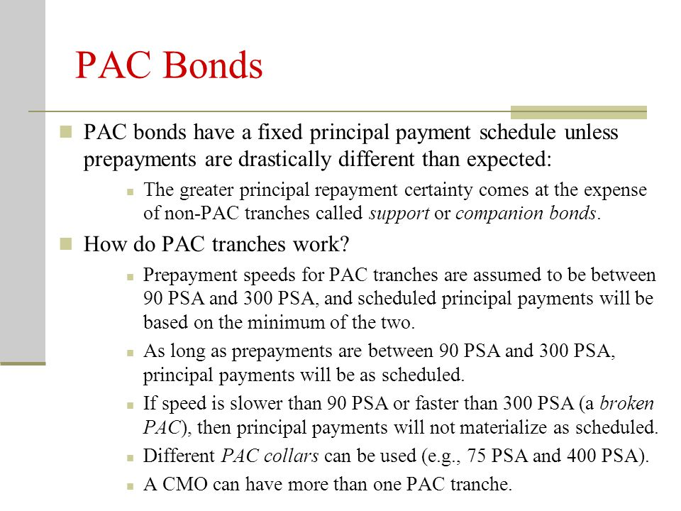 Comments on PACs With MBSs it is impossible to make prepayment risk disappear, even for CMOs.
