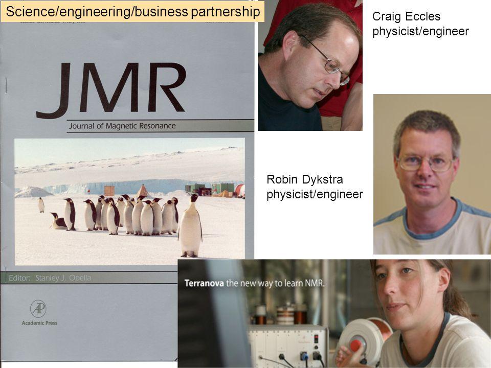 Craig Eccles physicist/engineer Robin Dykstra physicist/engineer Science/engineering/business partnership