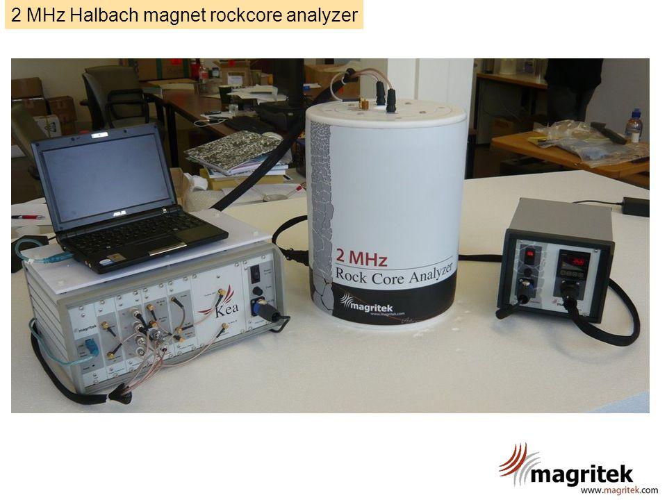 2 MHz Halbach magnet rockcore analyzer