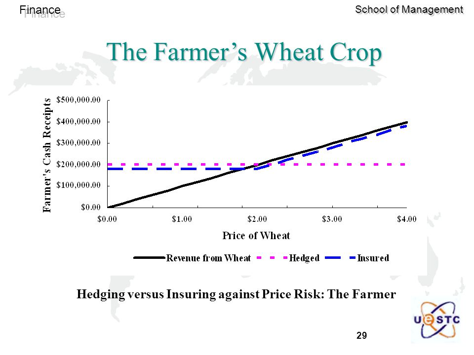 29 Finance School of Management The Farmer's Wheat Crop Hedging versus Insuring against Price Risk: The Farmer