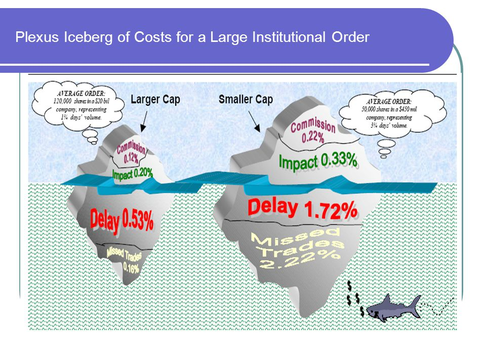 Plexus Iceberg of Costs for a Large Institutional Order