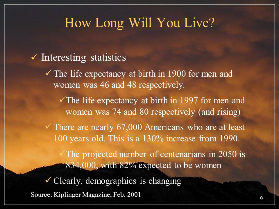6 How Long Will You Live.