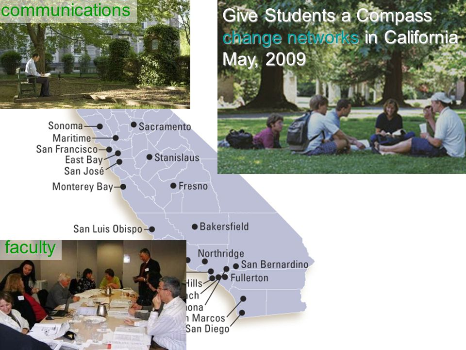 Give Students a Compass change networks in California May, 2009 communications faculty