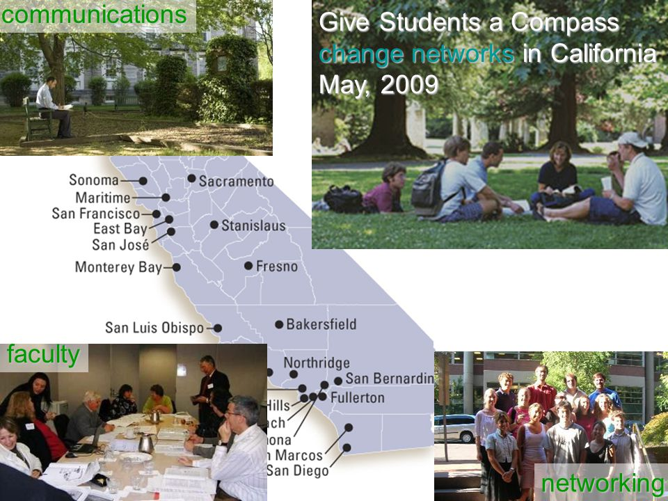 Give Students a Compass change networks in California May, 2009 communications faculty networking