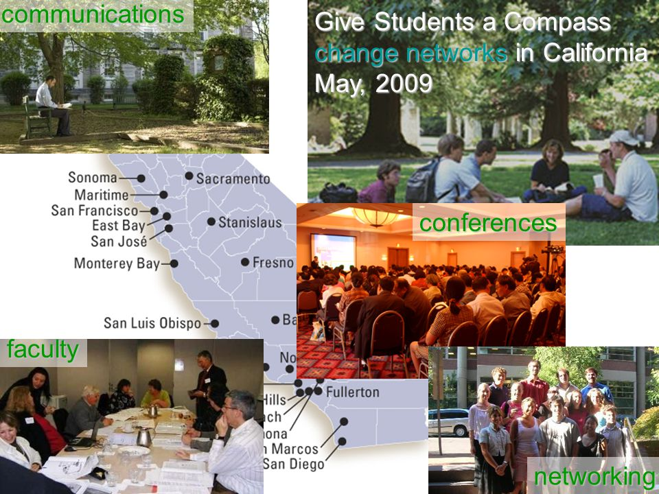 Give Students a Compass change networks in California May, 2009 communications conferences faculty networking